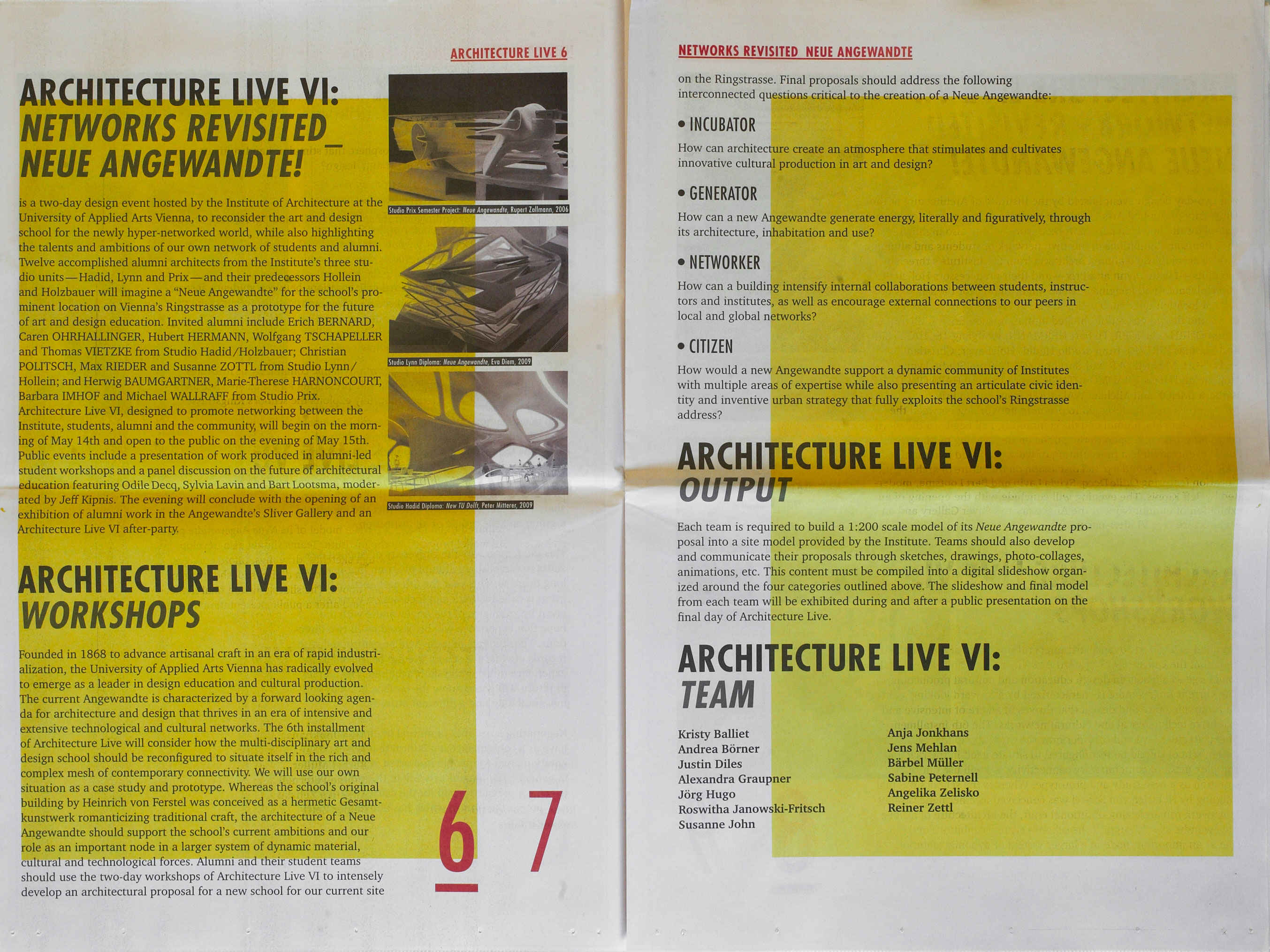 Architecture Live VI: Revisited