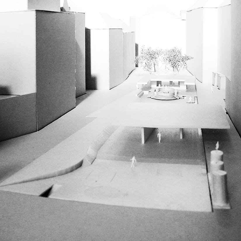 Stadtpatio: Model View South