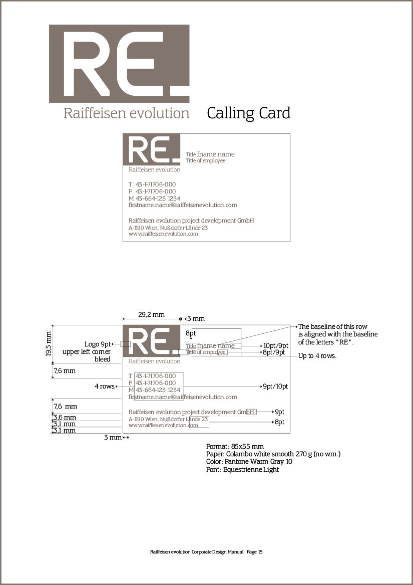 Raiffeisen Evolution: Corporate Design Manual