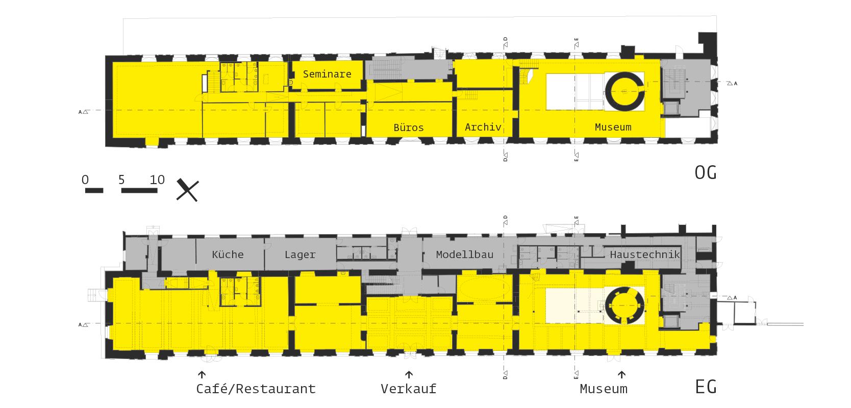 Saalgebäude Augarten: Plan