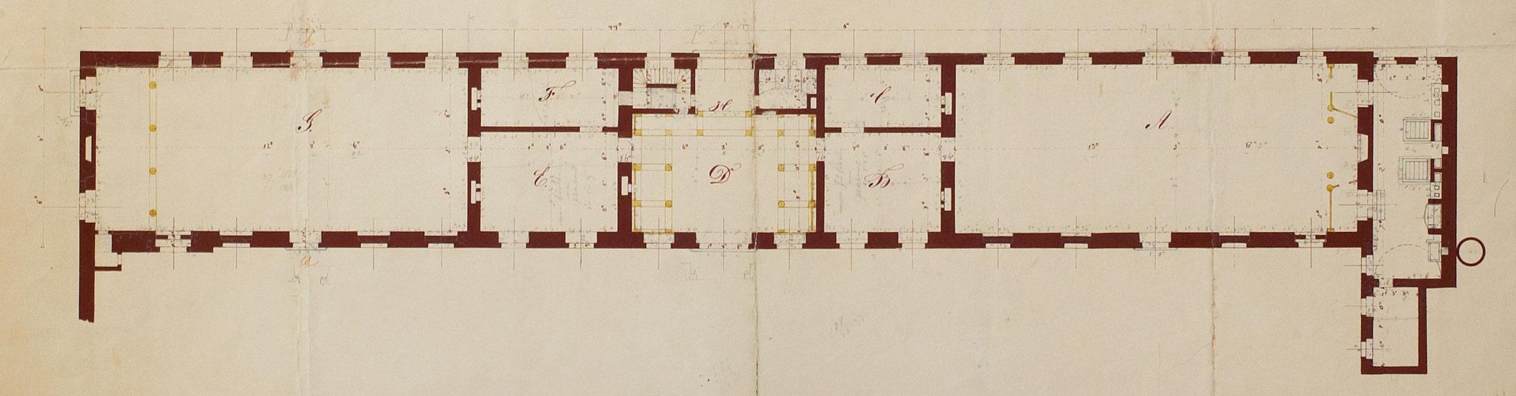 Saalgebäude Augarten: Historic Plan