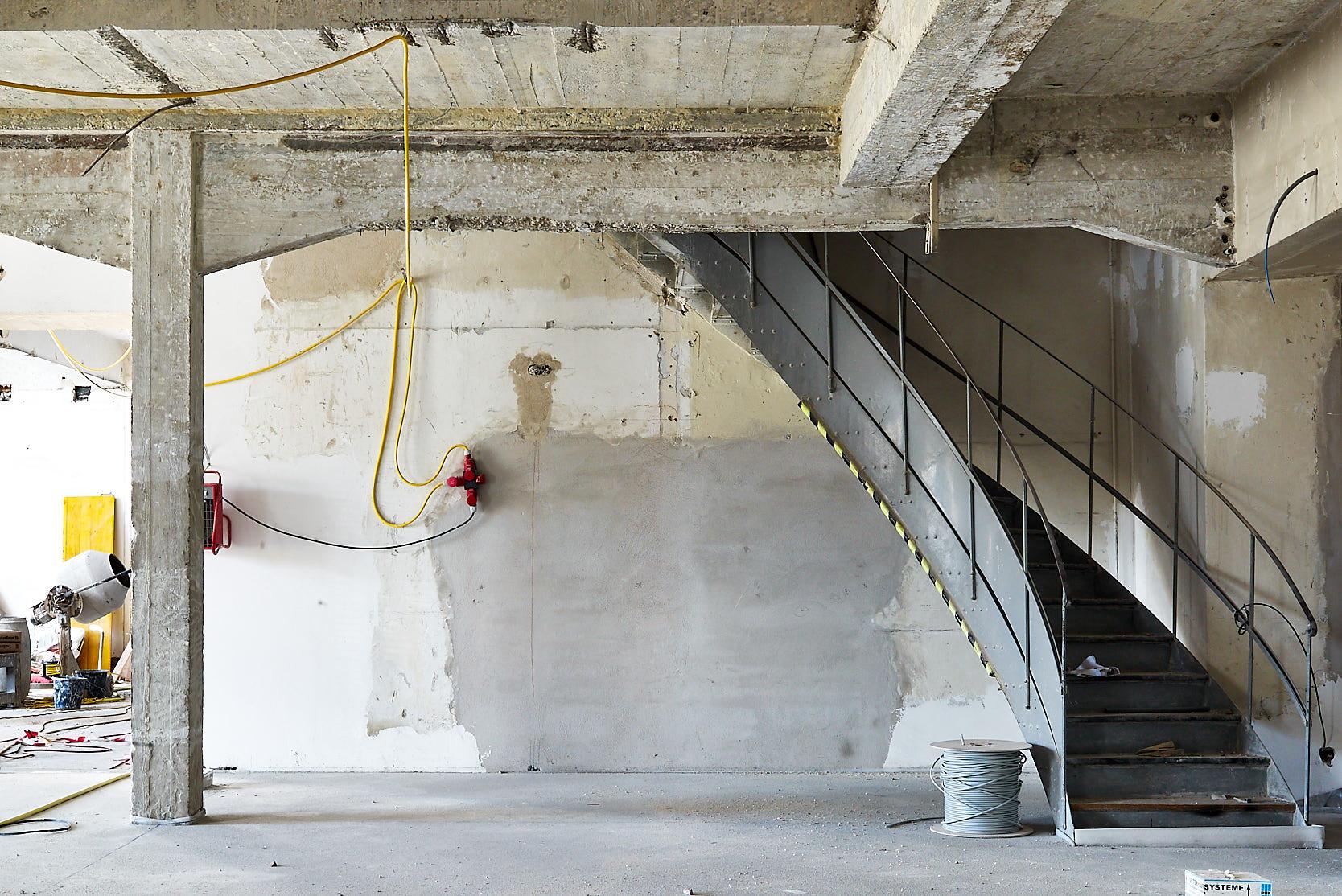 Saalgebäude Augarten: Construction