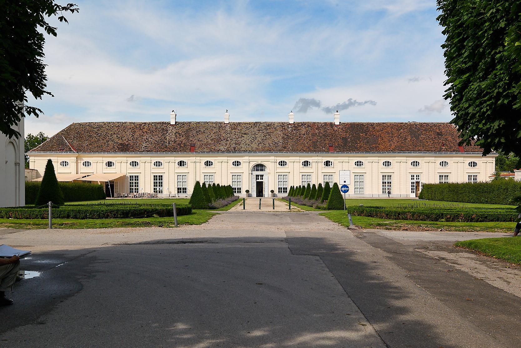 Saalgebäude Augarten: Facade