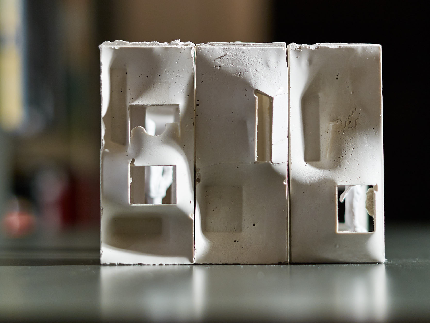 A Styrofoam Lover with (E)Motions of Concrete, Sci-Arc Gallery Los Angeles, 2009: model