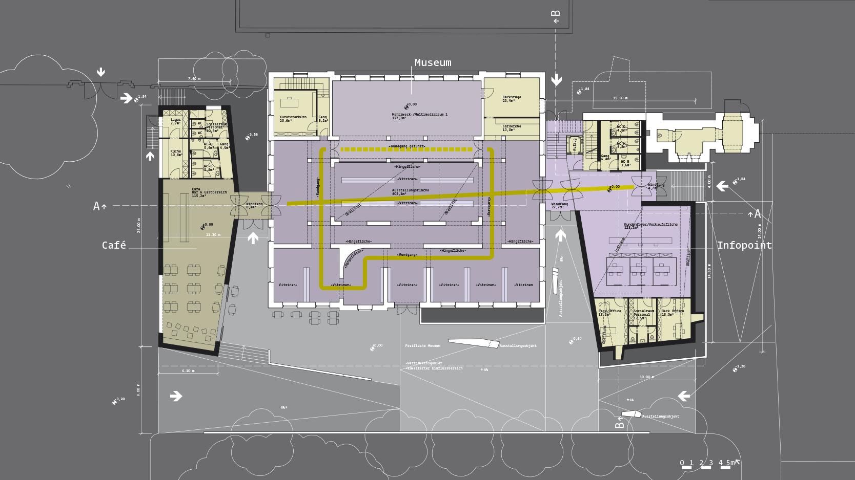 Zentralfriedhof: Plan +-0