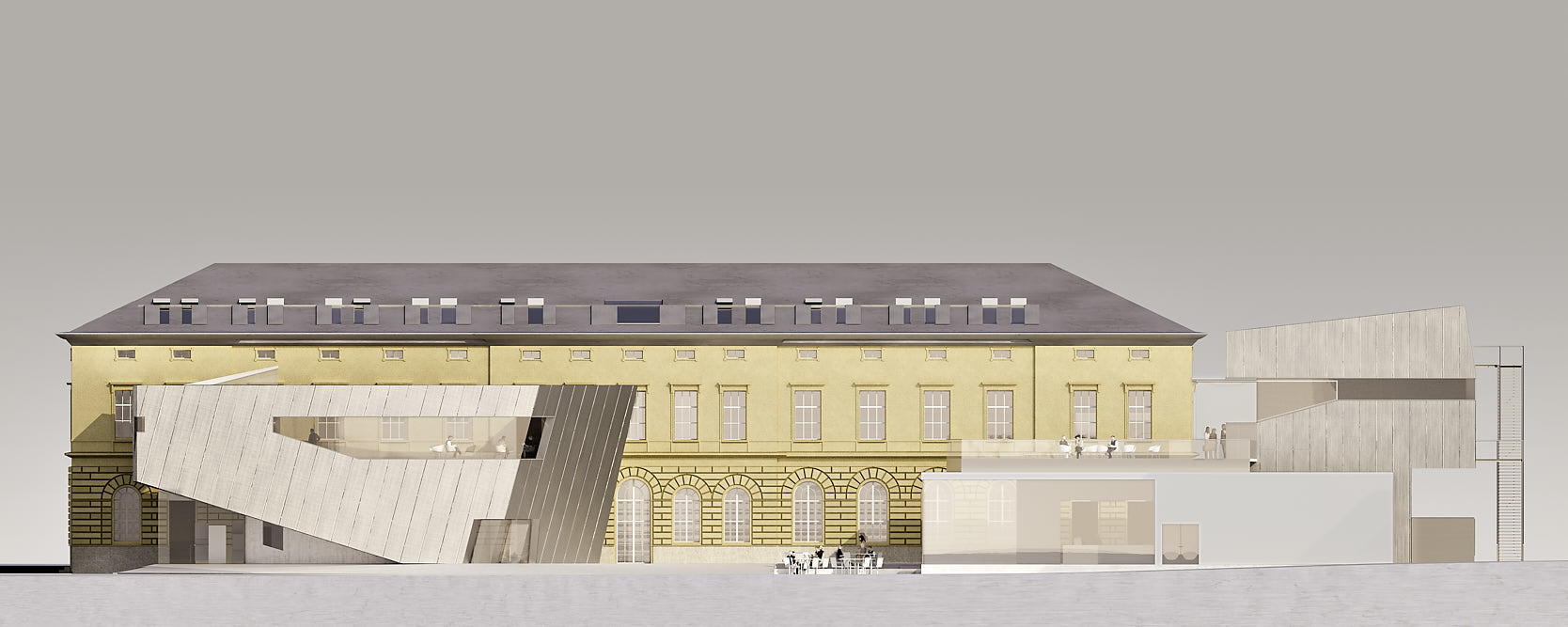 Library for the University of Music and performing Arts Vienna: Front