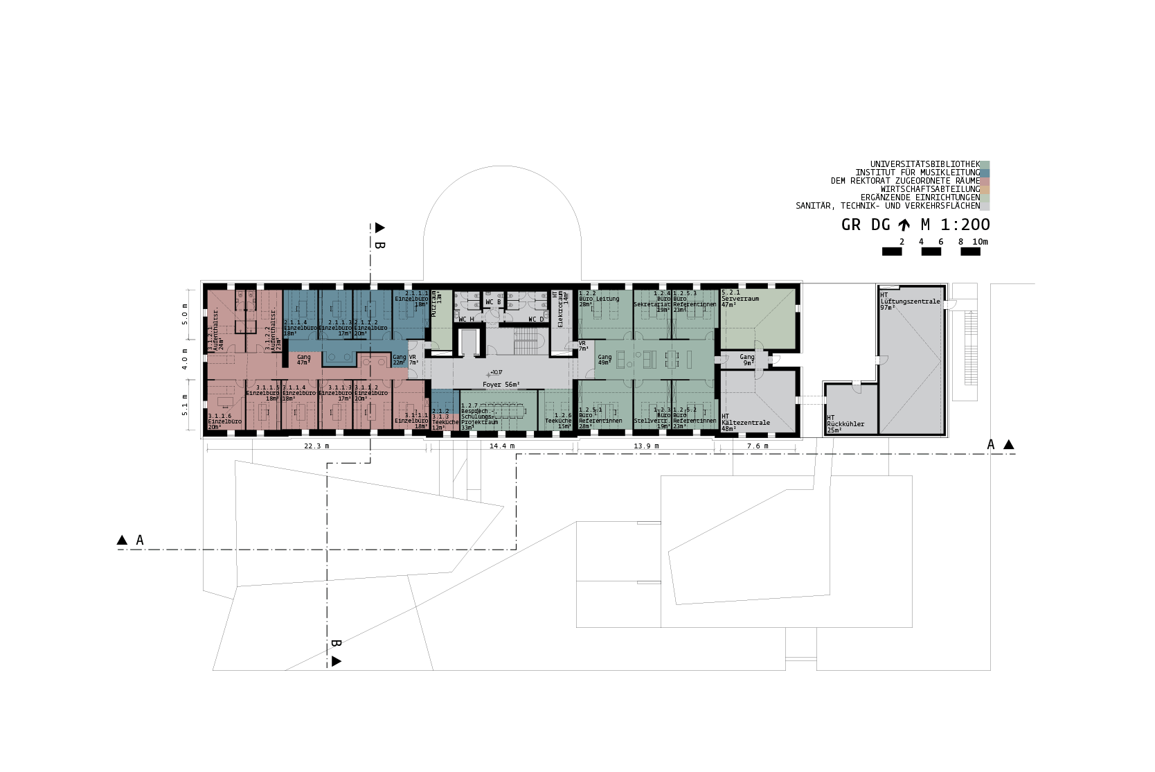 Library for the University of Music and performing Arts Vienna: Plan +2