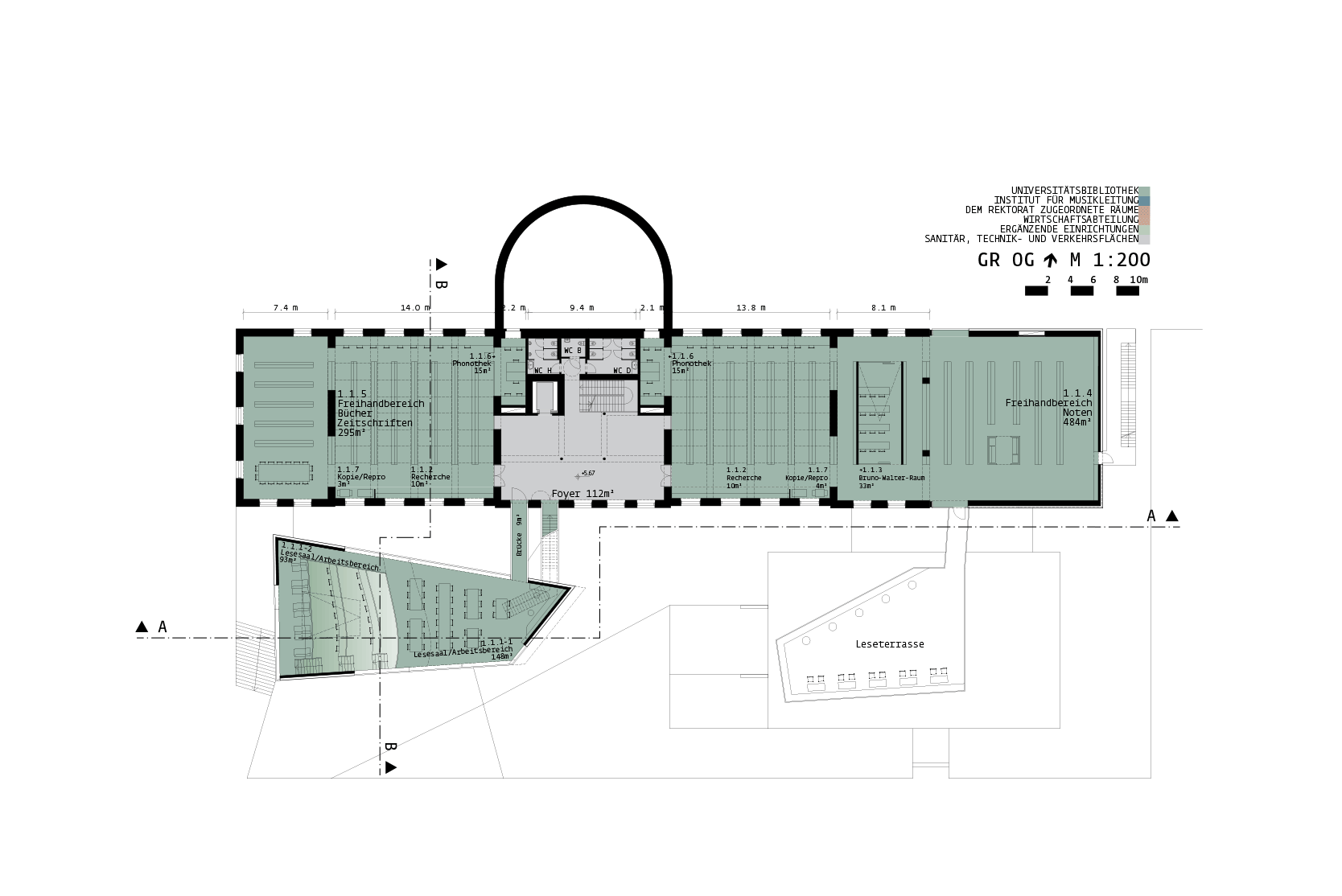 Library for the University of Music and performing Arts Vienna: Plan +1