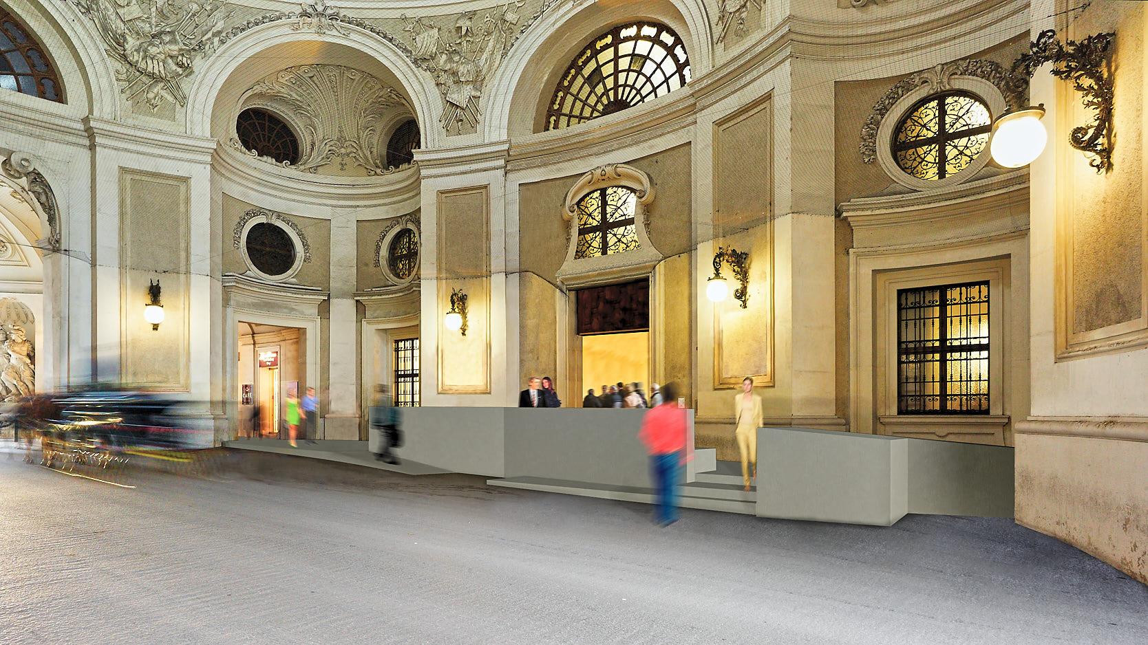 Silberkammer Hofburg: entrance rendering