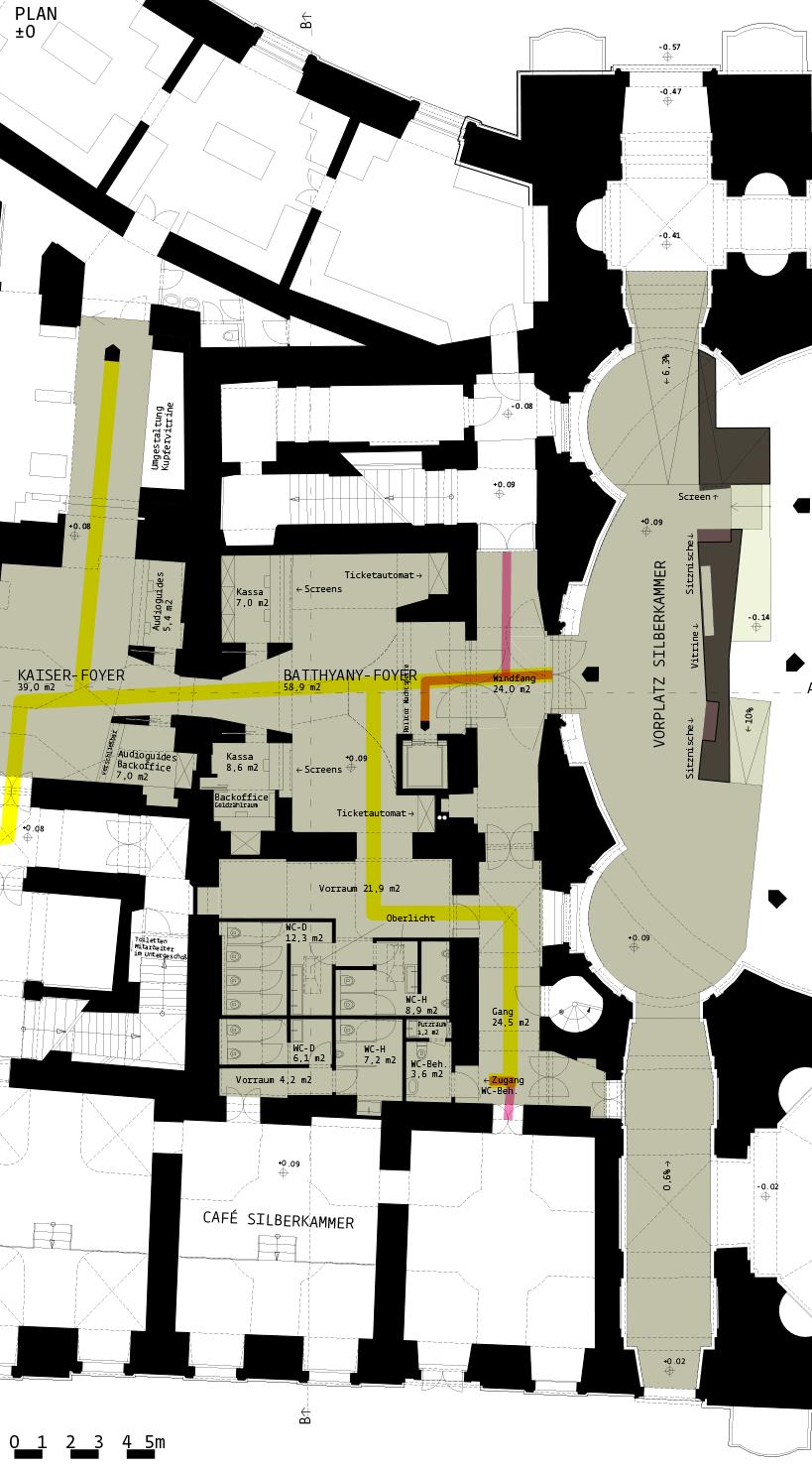 Silberkammer Hofburg: plan +-0