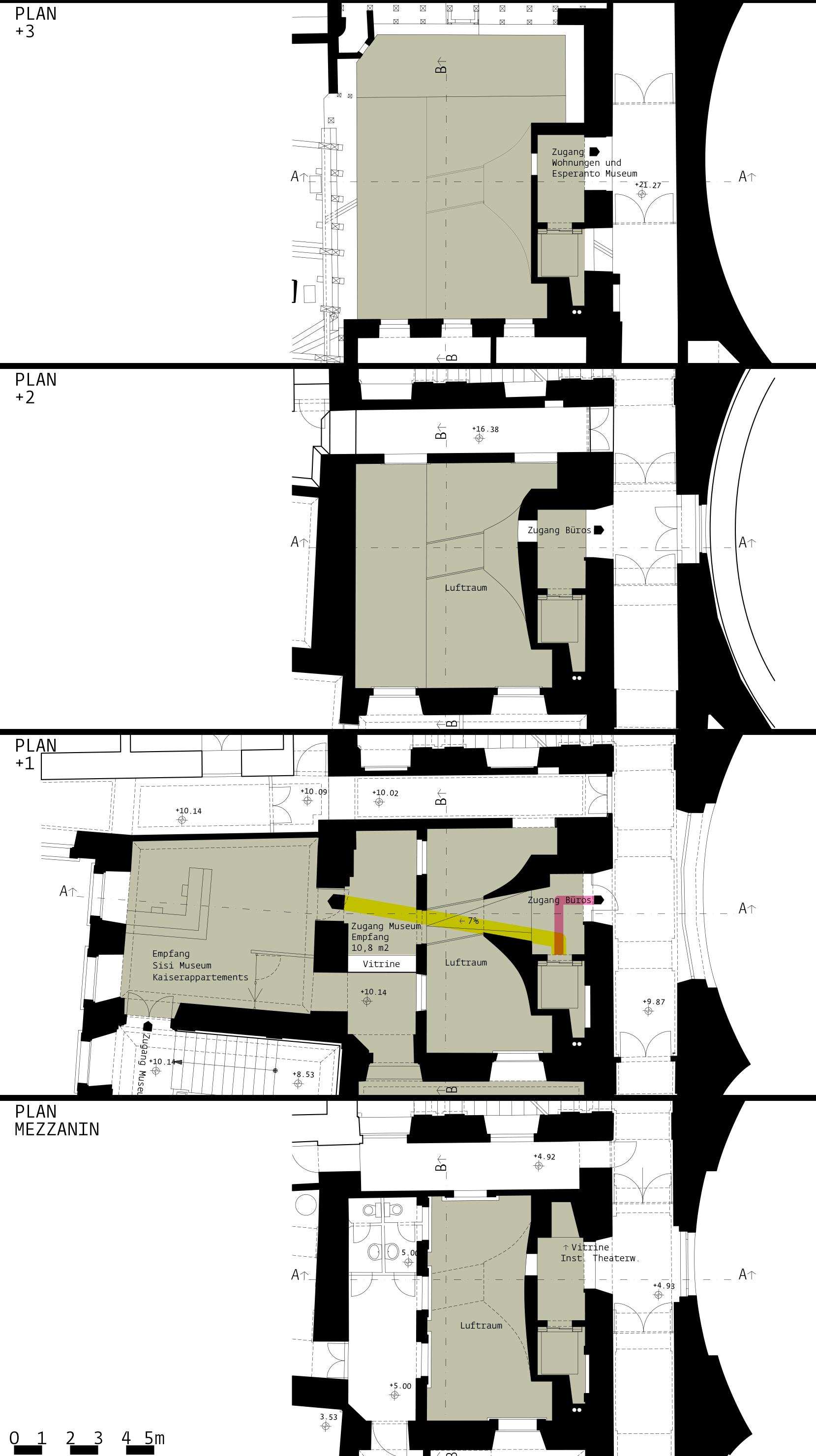 Silberkammer Hofburg: plans