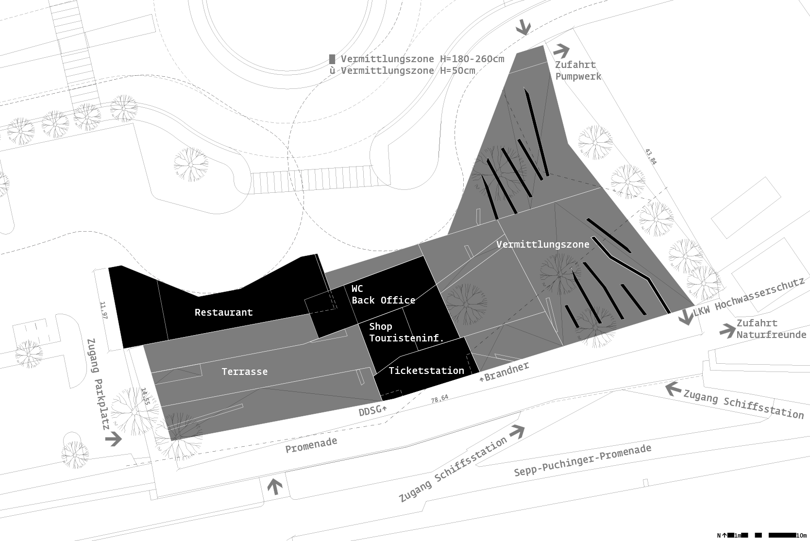 Stage on the Danube Krems/Stein: Site plan