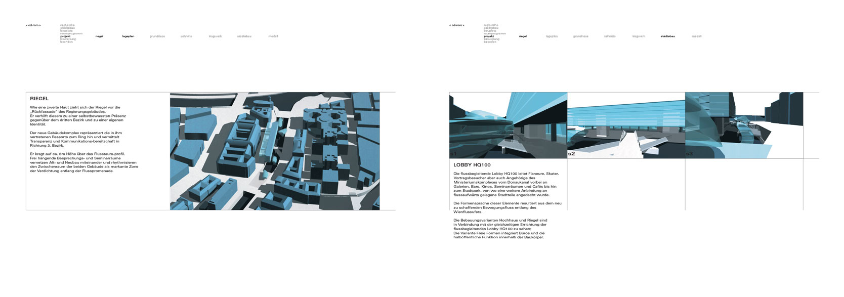 Wienfluss Architektur: Rendering Five-storey structure, Lobby HQ100