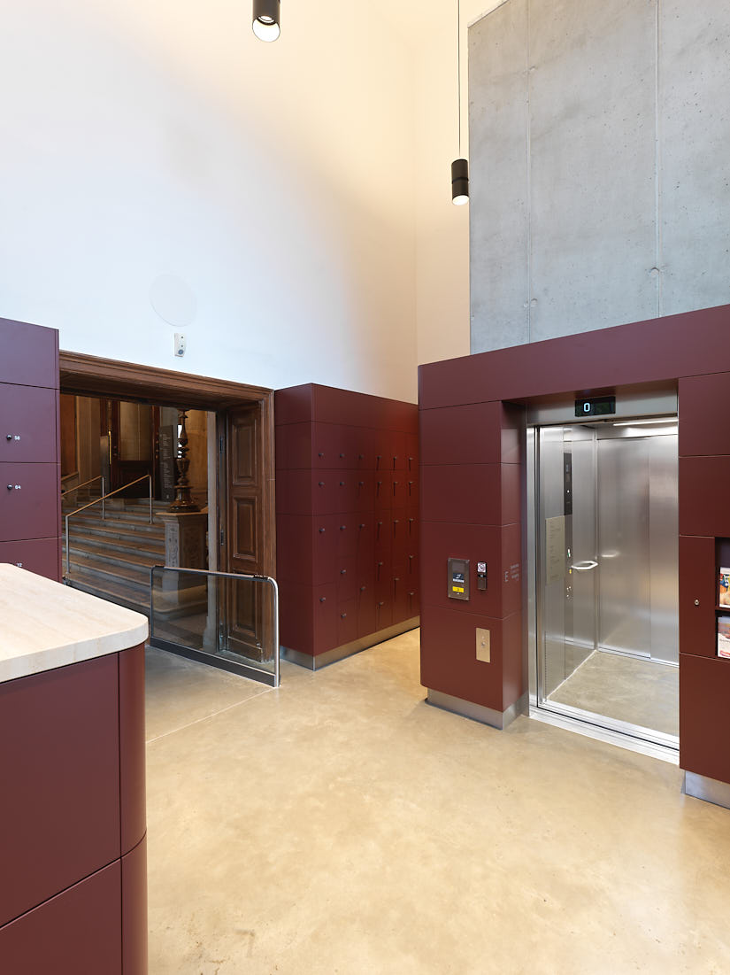 MAK New Entrance: Lobby, Elevator